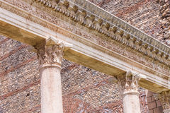 Corinthian Style Columns and Ornate Detail at Sardis Gymnasium Royalty Free Stock Image