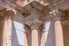 Corinthian Style Columns at Sardis Stock Photography