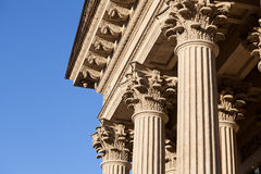 Corinthian style columns Royalty Free Stock Image