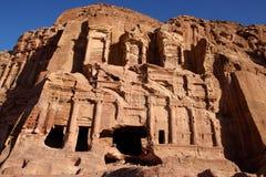 Corinthian Tomb. Ruin of Corinthian Tomb in Petra, Jordan Stock Photography