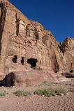 Corinthian tomb, one of the Royal Tombs, Petra Royalty Free Stock Photo