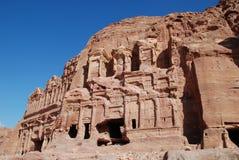 Corinthian Tomb. The Corinthian Tomb, with the Palace tomb behind, Petra, Jordan Royalty Free Stock Image