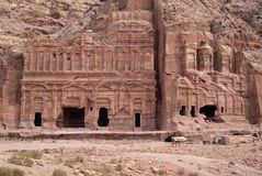 The Corinthian tomb and the Palace tomb, Petra, Jordan Royalty Free Stock Photography