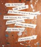 Corinthians 13 Imágenes de archivo libres de regalías