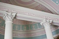 Corinthische kolommen Stock Afbeelding