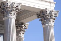 Corinthische kolommen Stock Foto's