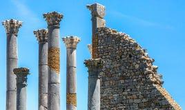 Corinthische Kolommen en Tempel van Jupiter royalty-vrije stock foto's