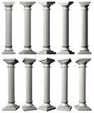 Corinthische Pijlers Royalty-vrije Stock Afbeelding