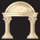 Corinthische realistische antieke Griekse tempel met Royalty-vrije Stock Afbeelding