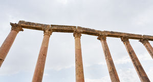 Corinthium column in antique town Jerash Stock Photography
