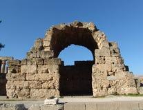Acrópolis de Corinto Fotos de archivo libres de regalías