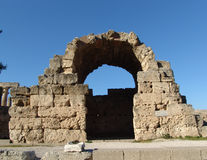 Corinth Acropolis. Ruined archway of ancient Corinth Acropolis in Greece Royalty Free Stock Photos