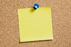 cork желтый цвет остатка примечания Стоковое Изображение RF