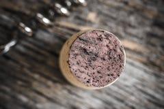 cork одиночное вино Стоковое фото RF