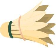 Cork. Illustration of badminton cork on white Stock Images