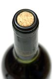 Cork. Extreme close-up view of cork of wine bottle stock photography