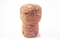 Cork. A simple close up photo of a cork over a white background Royalty Free Stock Images