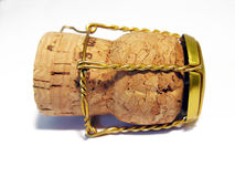 Cork. Isolated on a white background Royalty Free Stock Image