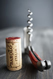 Cork Barolo Italia Stock Photo