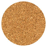 cork beer mat isolated over white Royalty Free Stock Photography