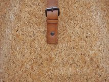 Cork with belt. Brown and belt cork background wallpaper and texture Stock Photography