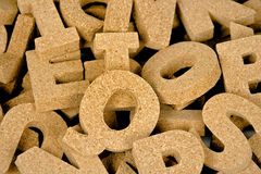 Cork block letter collection Royalty Free Stock Photography
