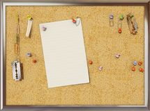 Cork Board Fotografia de Stock