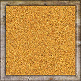 Cork board. Cork texture in wooden frame Royalty Free Stock Images