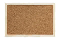 Cork Board. An empty cork board with wooden frame isolated on white background. Image shot in studio on 5D Mark II with L glass royalty free stock photos