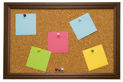 Cork Board. An Isolated cork board image Stock Images