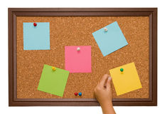 Cork Board. An Isolated cork board image Stock Photography