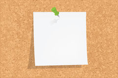 Cork Board. With Notes, Vector illustration Stock Images