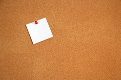 Cork Board 2. Cork board with a note pinned to it royalty free stock photo