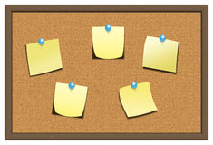 Cork board. Isolated over white background Stock Image