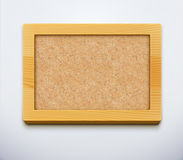 Cork board. Vector illustration of detailed blank cork bulletin board with wood frame Royalty Free Stock Image