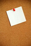 Cork Board 4. Cork board with a note pinned to it royalty free stock images