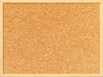 Cork board background with a wooden frame Royalty Free Stock Photos