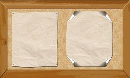 Cork board banner Stock Images