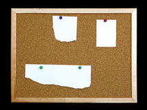 Cork board on black background Royalty Free Stock Photo