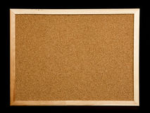 Cork board on black background Royalty Free Stock Image