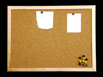 Cork board on black background Stock Photography