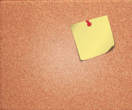 Cork board with blank note Royalty Free Stock Image