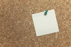 Cork Board with Blank Note Stock Images