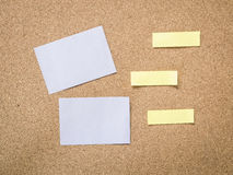 Cork board with blank note paper Royalty Free Stock Image