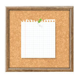 Cork Board With Blank Note Paper And Green Pin Royalty Free Stock Photography