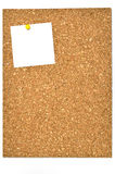 Cork board and blank notes. Royalty Free Stock Images