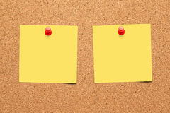 Cork board. With blank notes royalty free stock images