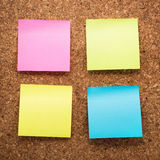 Cork board with blank notes Stock Photography