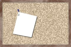 Cork board with blank paper Royalty Free Stock Images
