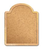 Cork Board com quadro de madeira Fotos de Stock Royalty Free